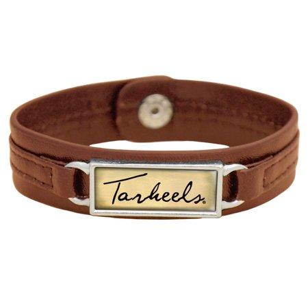 North Carolina Tar Heels Women's Sepia Leather Bracelet - Brown - No Size