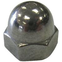 Handi Man Marine 001 #6-32 Cap Nut Ss - 6 Pack
