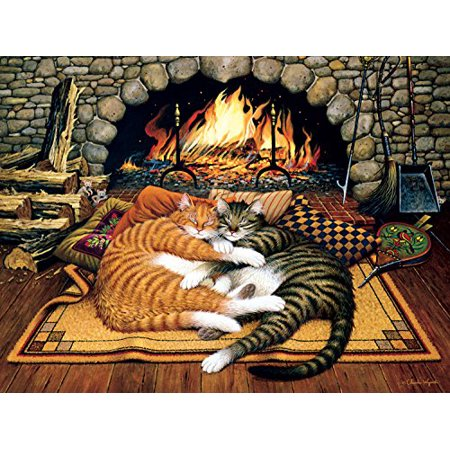 Buffalo Games - The Cats of Charles Wyoscki - All Burned Out - 750 Piece Jigsaw Puzzle](Cat Bowling Halloween Game 2)