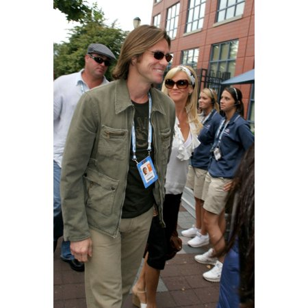 Jim Carrey Jenny Mccarthy In Attendance For Us Open 2006 Mens Finals Usta National Tennis Center Flushing Meadows Ny September 10 2006 Photo By Rob Richeverett Collection Celebrity
