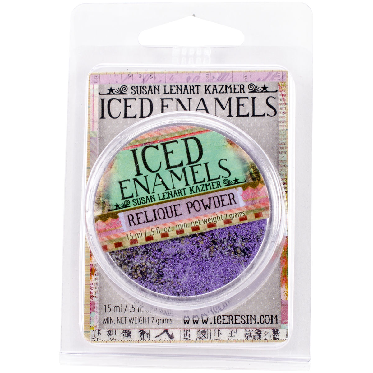 Iced Enamels Relique Powder .5Oz-Amethyst