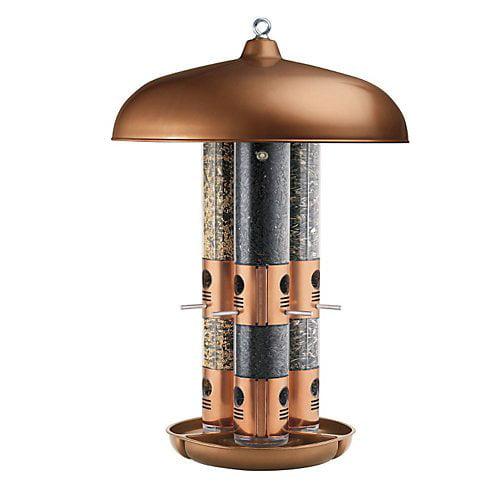 Perky-Pet Copper Triple Tube Birdfeeder by Woodstream Corp