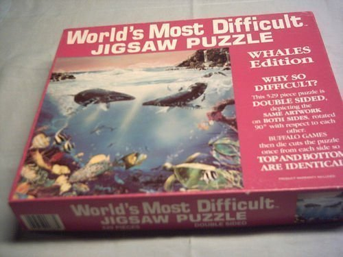 World's Most Difficult Jigsaw Puzzle , Whales Edition , 529 pc, jigsaw puzzle By Buffalo Games by