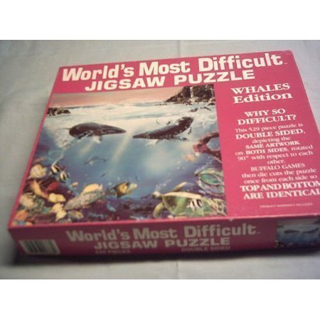 World's Most Difficult Jigsaw Puzzle , Whales Edition , 529 pc, jigsaw puzzle By Buffalo Games