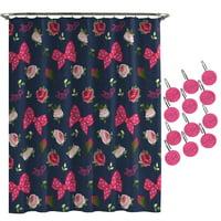 JoJo Siwa Roses and Bow Shower Curtain and Hooks Set