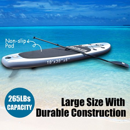 Costway Goplus 10' Inflatable Stand Up Paddle Board SUP w/ 3 Fins Adjustable Paddle (Frontier Iii Dive Board)