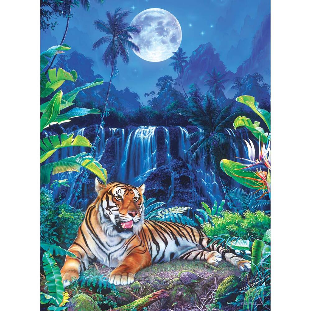 Masterpieces Jigsaw Puzzle Glitter Collection, Eyes Of The Tiger, 500-pieces