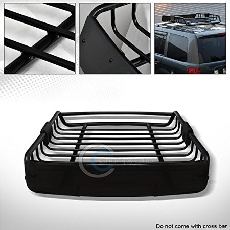 - Velocity Concepts Black Roof Rack Basket Car Top Cargo Baggage Carrier Storage W/Wind Fairing C01