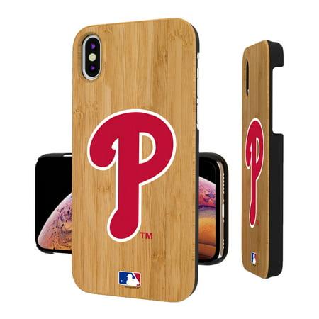 Philadelphia Phillies Bamboo Wood iPhone Case