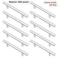 25 Pcs 6 Inch ABS T Bar Drawer Handles Kitchen or Furniture Cabinet Hardware T Bar Handle