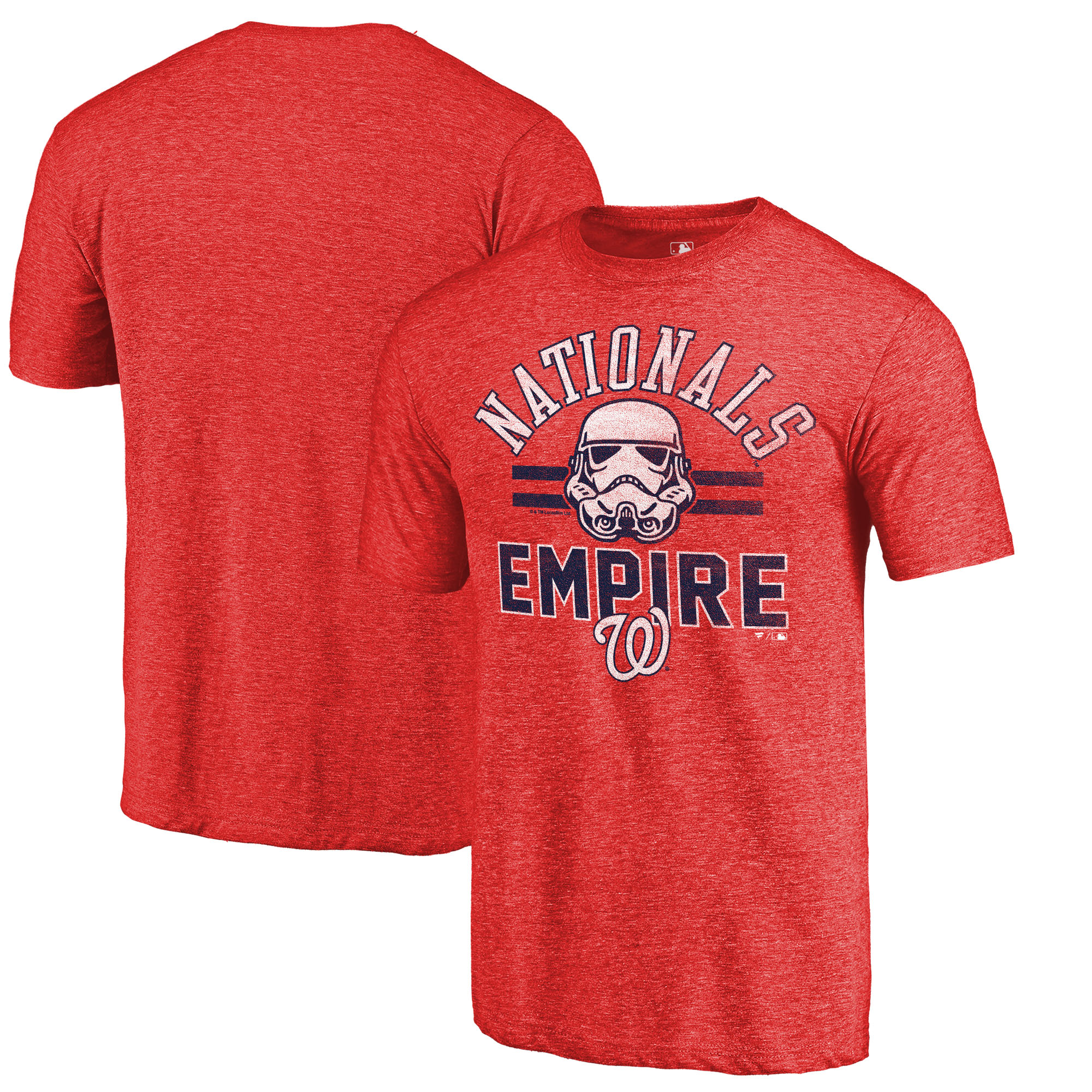 Washington Nationals Fanatics Branded MLB Star Wars Empire Tri-Blend T-Shirt - Red