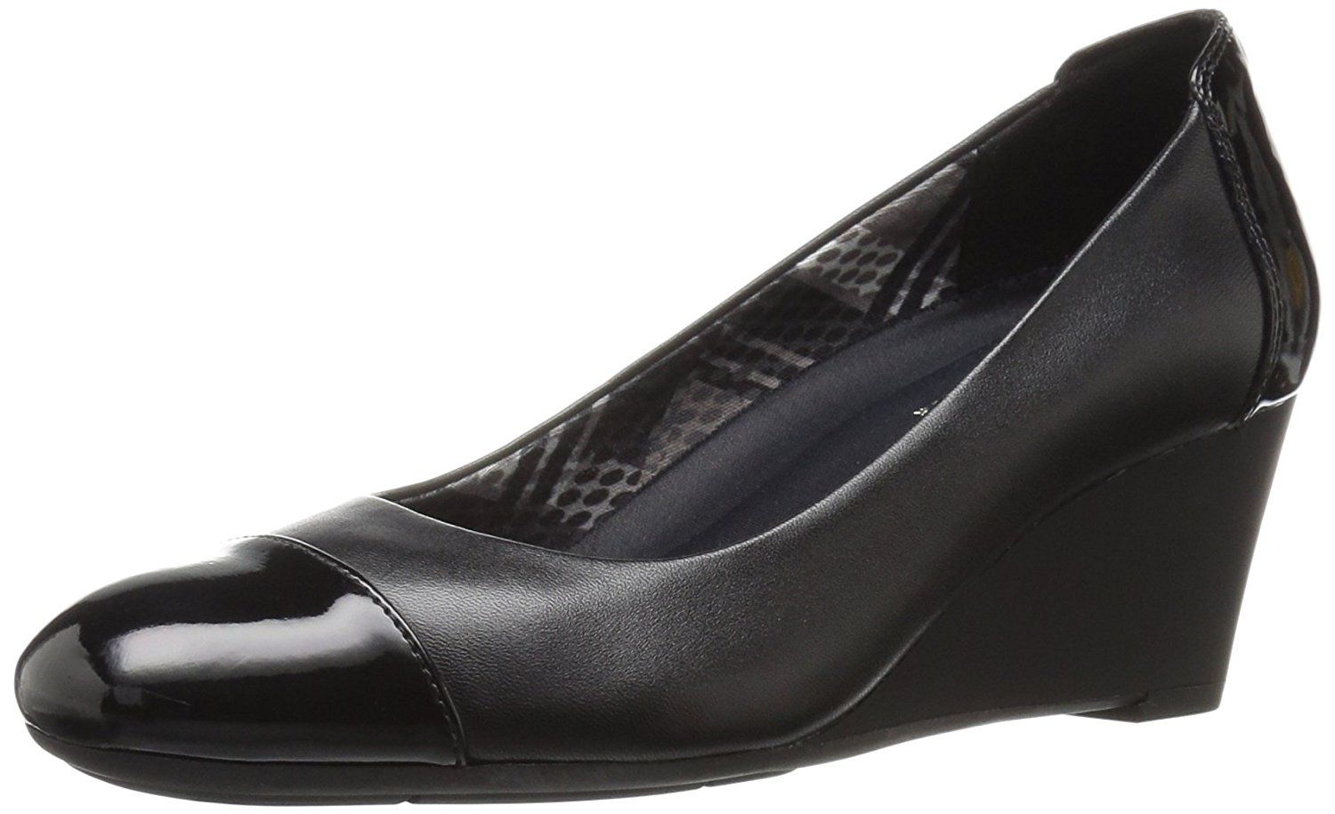 Naturalizer Womens Necile Leather Cap Toe Wedge Pumps by Naturalizer