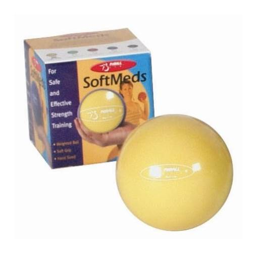 1.1-pound Yellow FitBALL SoftMeds Ball w Adjustable Strap