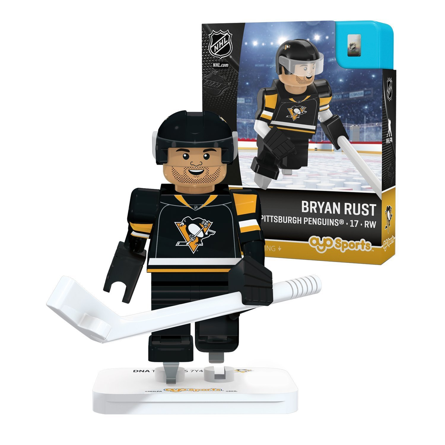OYO Sports Pittsburgh Penguins Bryan Rust #17 Minifigure by OYO Sports