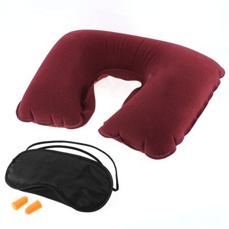 Unique Bargains Travel Sleeping Relaxing Head Neck Cushion Pillow Eye Mask Earplug 3 in 1 - Unique Masks