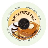 Wolfgang Puck Vanilla French Toast Flavored Coffee Single Serve Cups, 24 Count