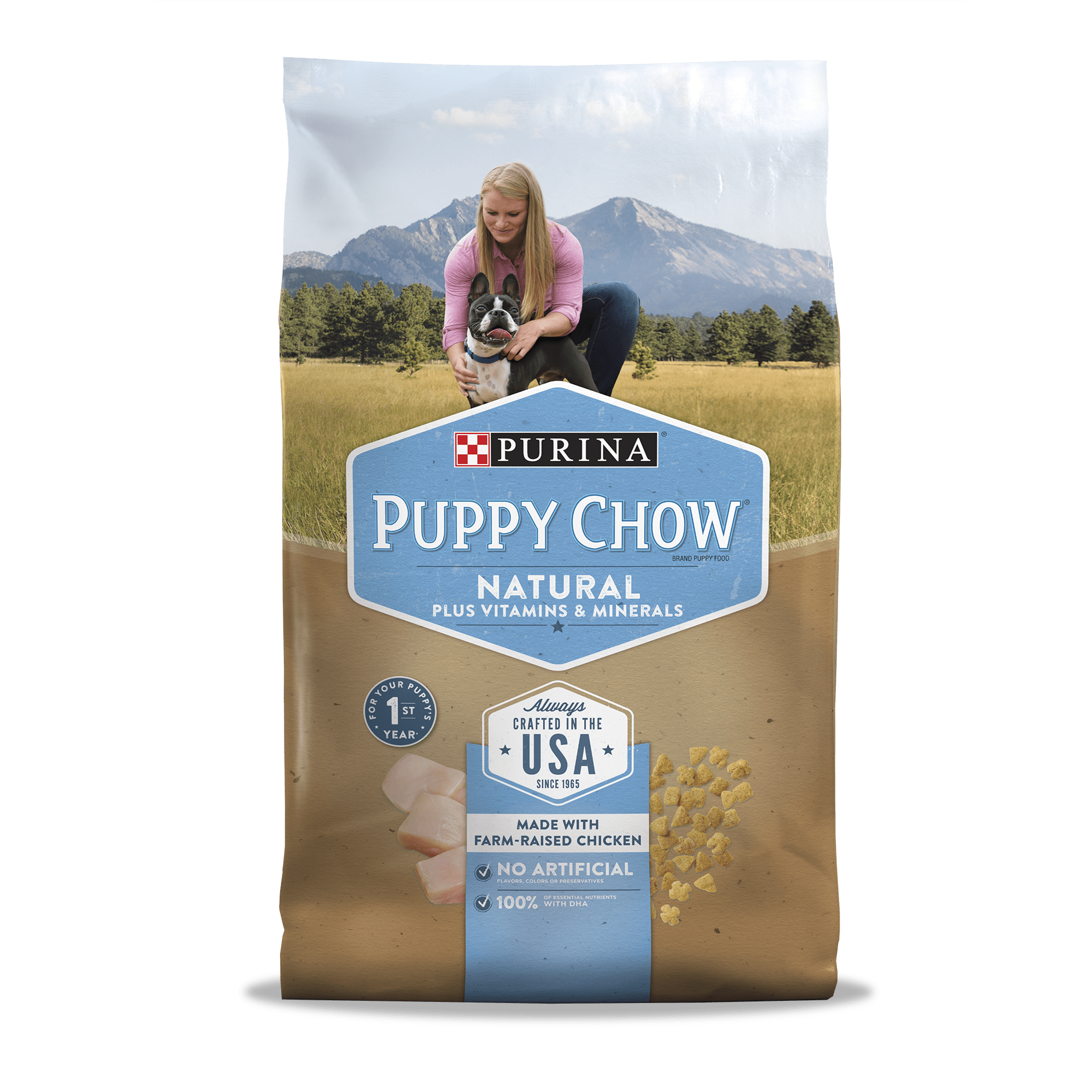 Purina Puppy Chow Natural With Farm-Raised Chicken Dry Puppy Food 15.5 lb. Bag by Nestle Purina Petcare Company