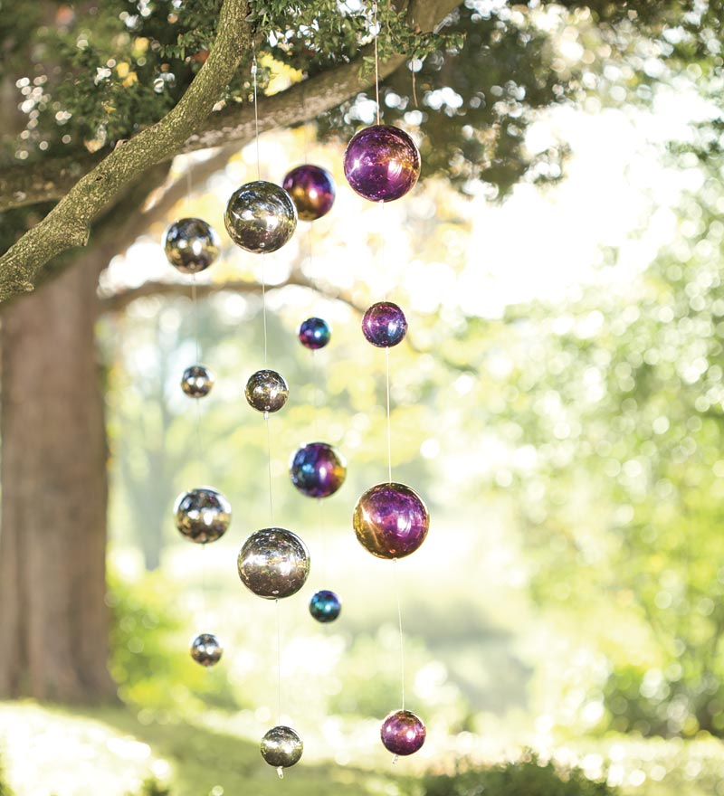 Hanging Gazing Ball Chain Garden Accent by Problem Solvers
