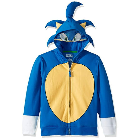 Sega Little Kids Sonic The Hedgehog Costume Hoodie, Royal, 4](Sonic Menu Halloween)