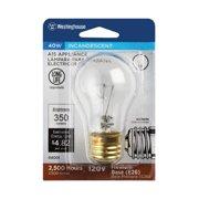 04001 40-Watt Clear Appliance Light Bulb, 350 Lumens - Quantity 6