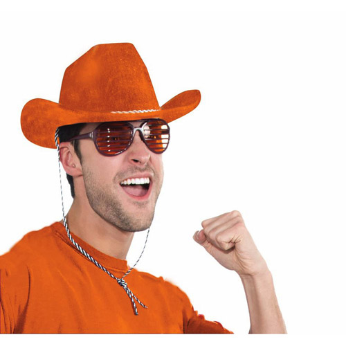 Orange Cowboy Hat Halloween Costume Accessory