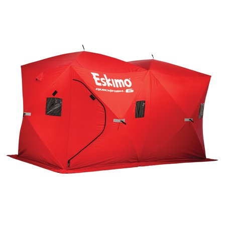 Eskimo QuickFish 6 Portable 6-Person Pop Up Ice Fishing Shanty Shack Shelter
