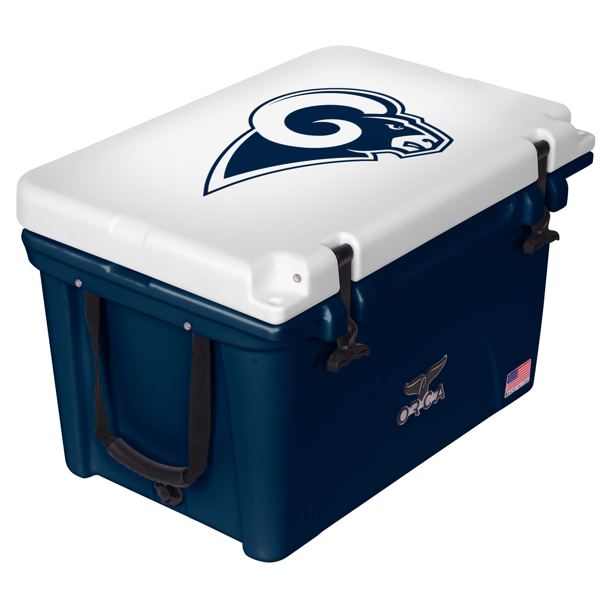 Los Angeles Rams ORCA 40-Quart Hard-Sided Cooler - Navy/White - No Size