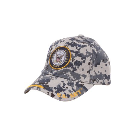 United States Navy Adjustable Hat w/ Emblem Shadow/Embroidery