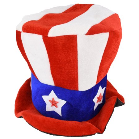 Uncle Sam Flashing Patriotic Hat with LED Lights for 4th of July Party Favors - Fourth Of July Hat