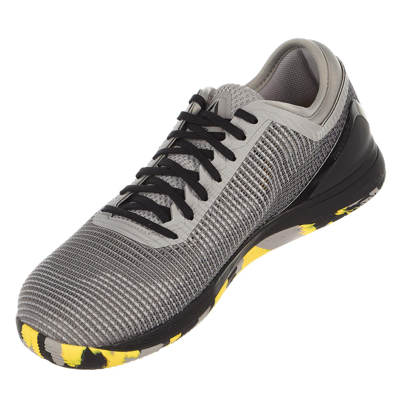6c9e413b16a Reebok - Reebok CROSSFIT Nano 8.0 Flexweave Cross Trainer - Shark Tin Grey  Ash Grey Black Go Yellow - Mens - 10 - Walmart.com