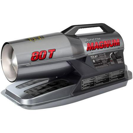 2 Heating Unit (ProCom Portable Multifuel Commercial Heater - 80,000 BTU, Model#)
