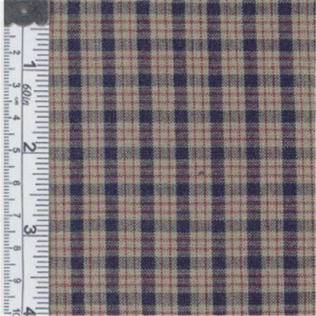 Textile Creations CC-314 Country Cupboard Fabric, Navy Mini Plaid, 15 yd.