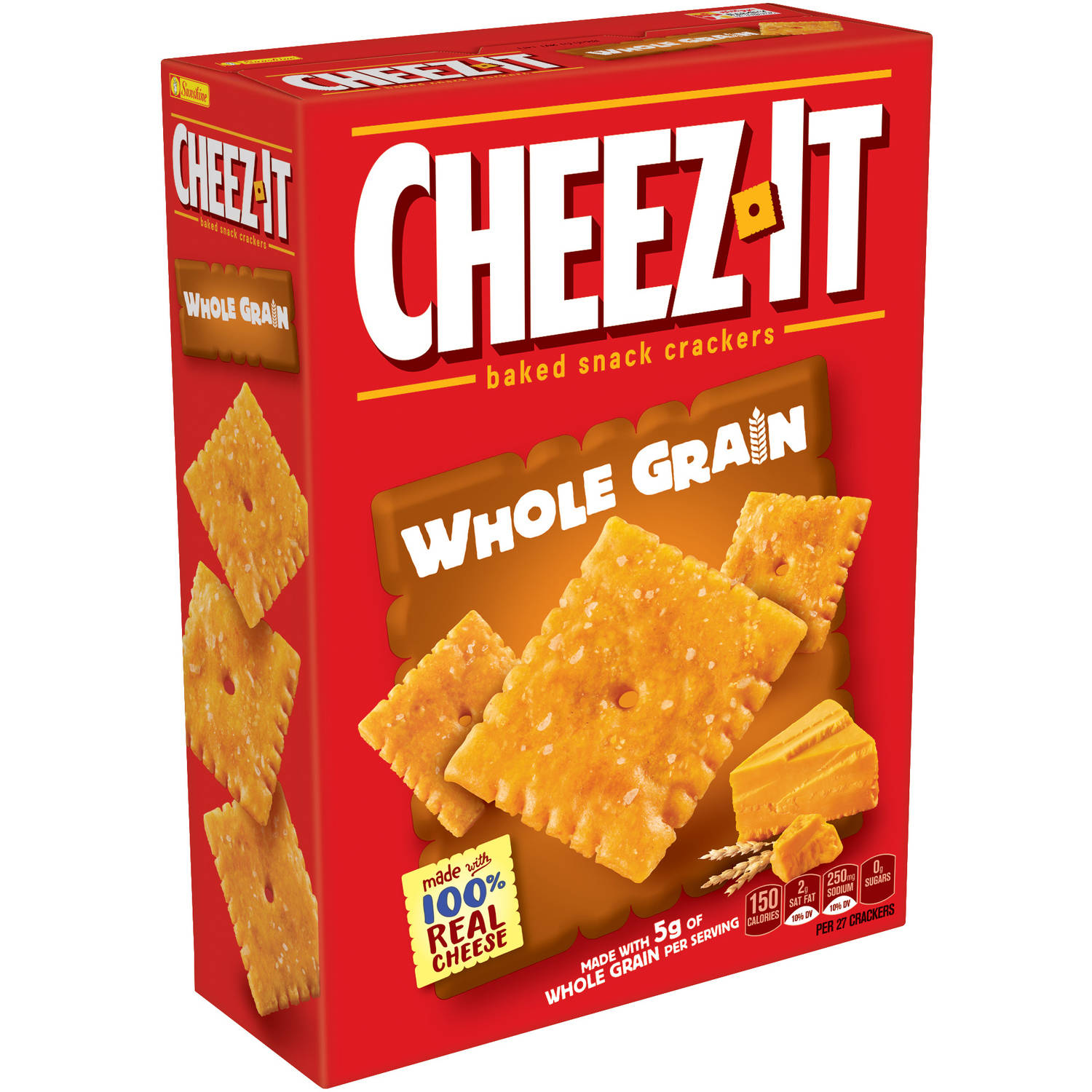 Cheez-It Whole Grain Baked Snack Crackers, 12.4 oz by Sunshine Biscuits, LLC