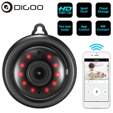 - DIGOO Mini Security Camera,960P Smart Home WiFi Camera Wireless Surveillance with Night Vision,Two-way Audio,Support Onvif and APP Control