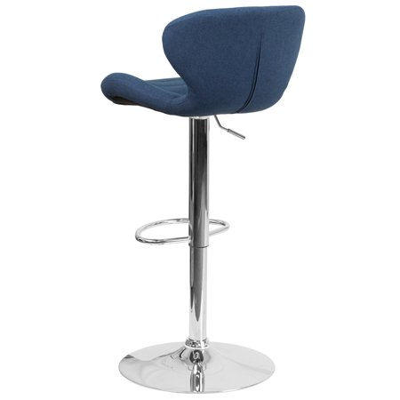 Flash Furniture Contemporary Adjustable Height Barstool with Chrome Base, Multiple Colors