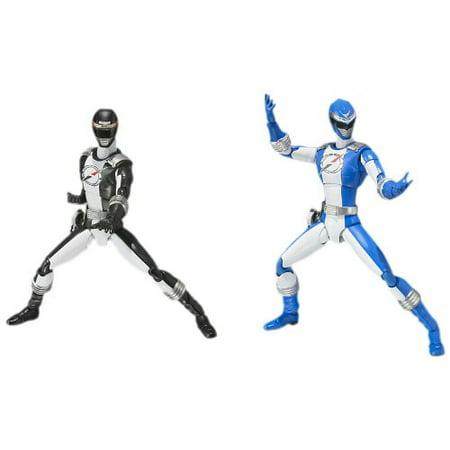 Bandai Power Rangers Operation Overdrive Black And Blue Ranger Action Figure Set