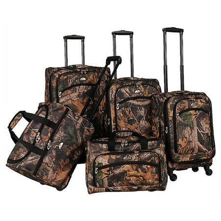 Long Lat Inc. AF 5P CAMO Luggage Set