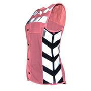 Women's Meshed Up Expandable Safety Vest (Pink/Fuchsia) - X-Large MUWP