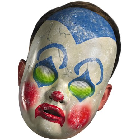 New Scary Halloween Costume Adult's Clown Doll Face Mask Facemask (Scary Face Paint Halloween)