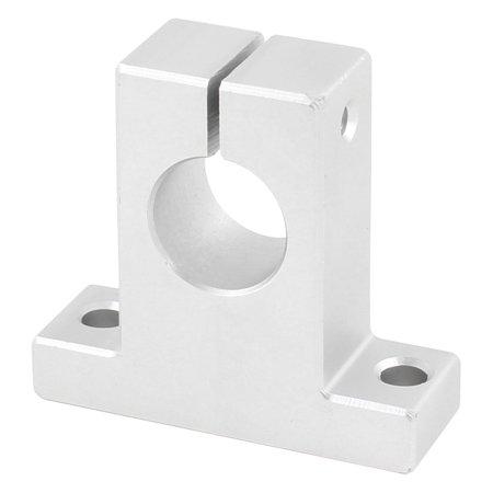 16mm Diameter Alumimum CNC Linear Rail Shaft Guide Support Silver Tone (Linear Guide Cnc)