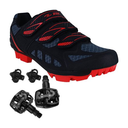 Zol Predator MTB Mountain Bike and Indoor Cycling Shoes with Pedals and (Best Road Bike Pedals And Shoes)