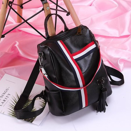 Korean Fashion Casual Dual-Use Bag Small Fresh Soft Leather Women'S Backpack - image 4 de 10