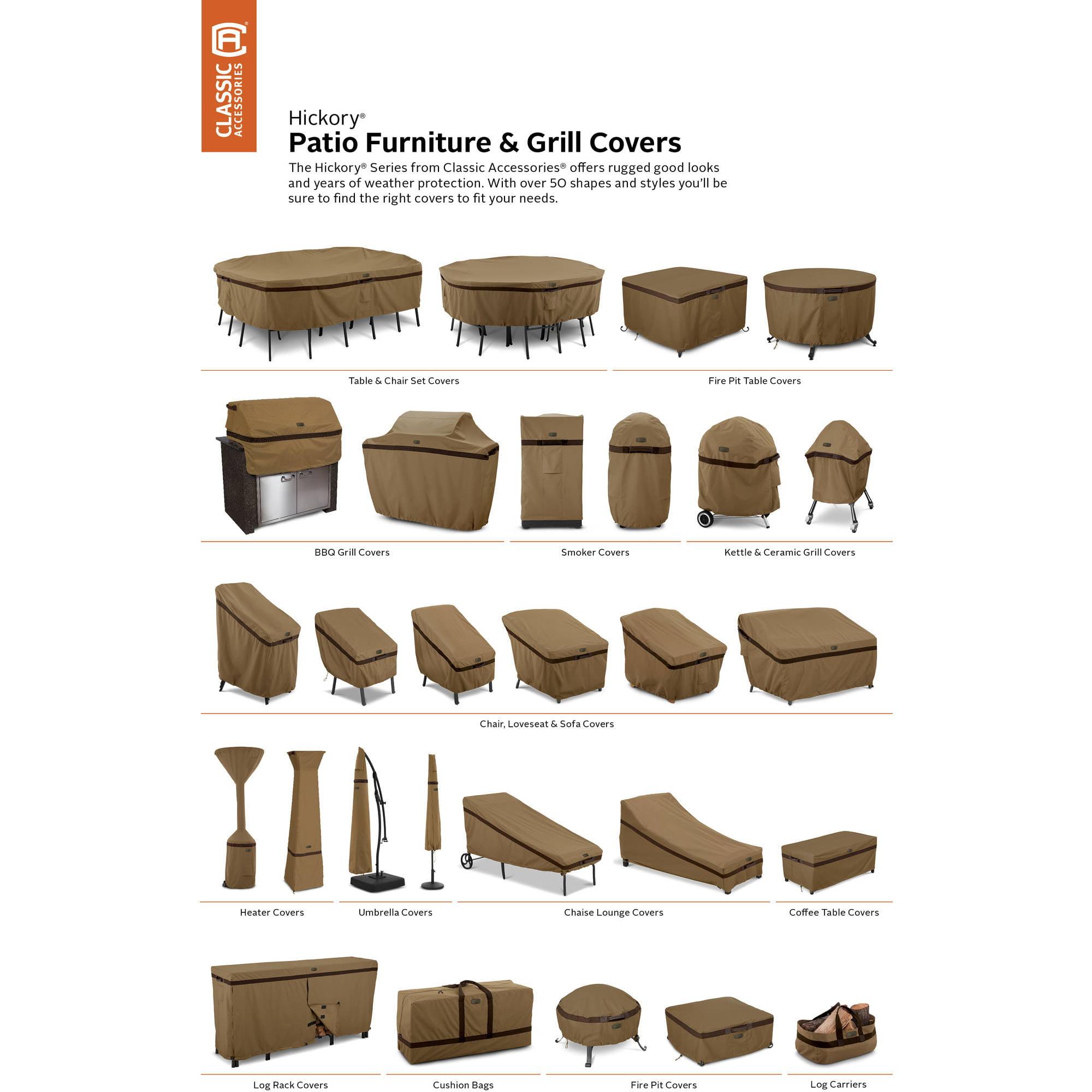 Clic Accessories Hickory Barbecue Bbq Grill Patio Storage Cover
