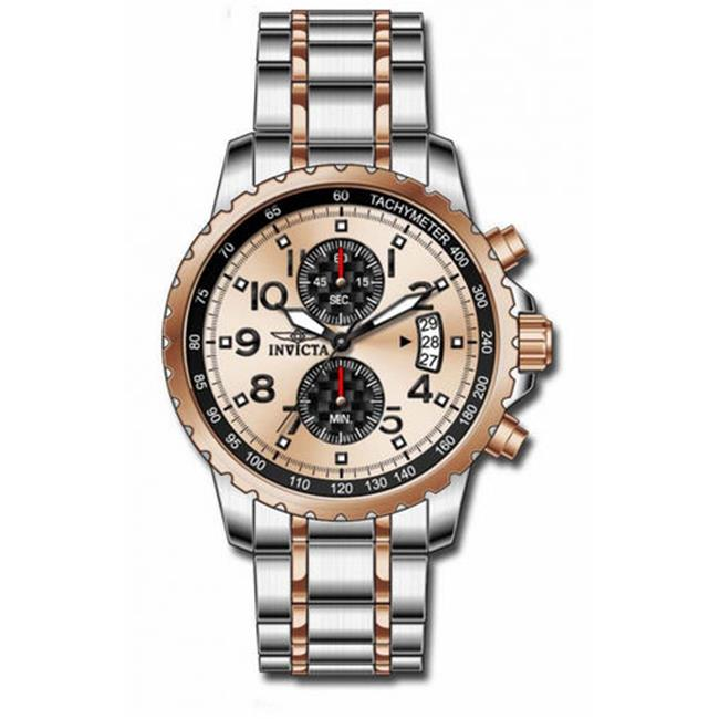 Invicta 13784 Specialty Rose Black Dial Quartz Chrono Rose-Stainless Steel Watch
