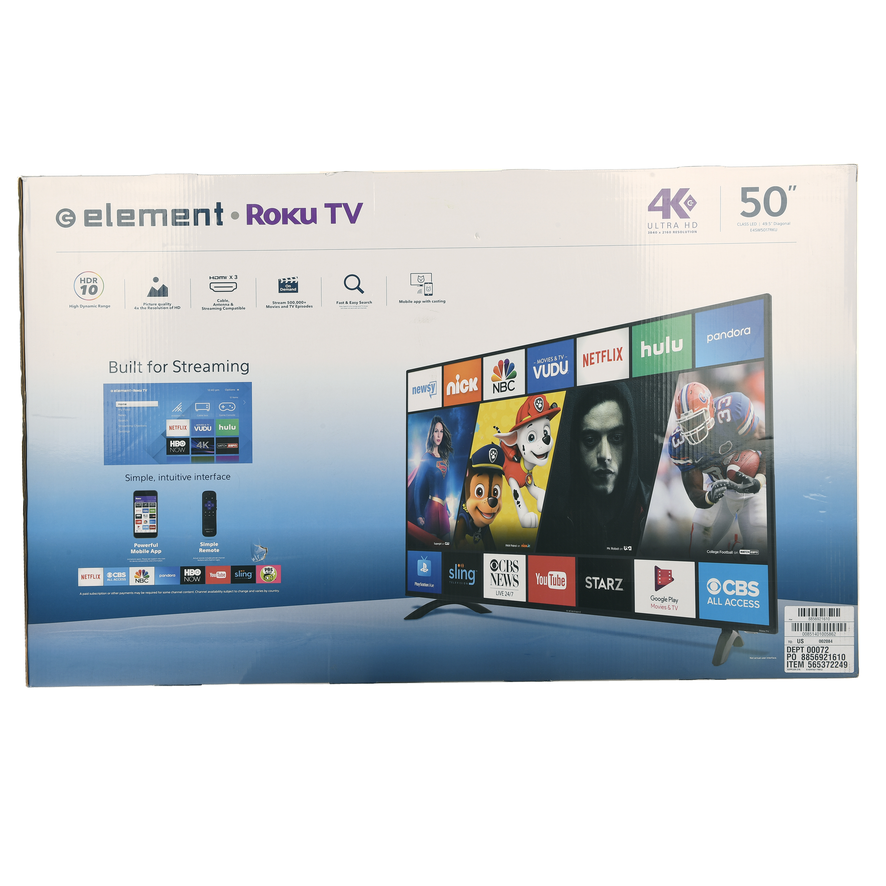 element roku tv
