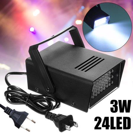 3W 220V Mini 24 High-Power LED Stage Light Strobe Flash Light For Halloween Club laserlight Dj Disco Bar Stage House Party Lighting](Halloween Club Party London)