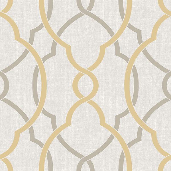 NuWallpaper Sausalito Taupe/Yellow Peel & Stick Wallpaper