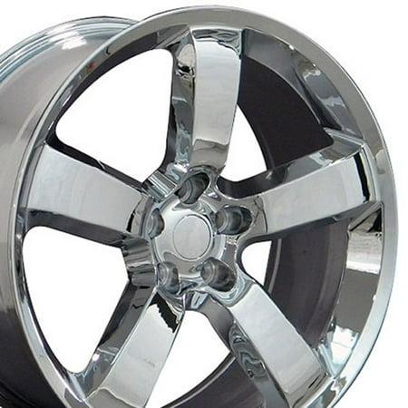 OE Wheels 20 Inch SRT Style | Fits Dodge Challenger, Charger, SRT8, Magnum, Chrysler 300, SRT8 | DG04 Chrome 20x9 Rim ()