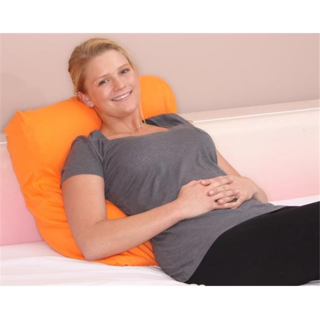 Jersey Knit Bed Pillow Cover, Pumpkin Orange