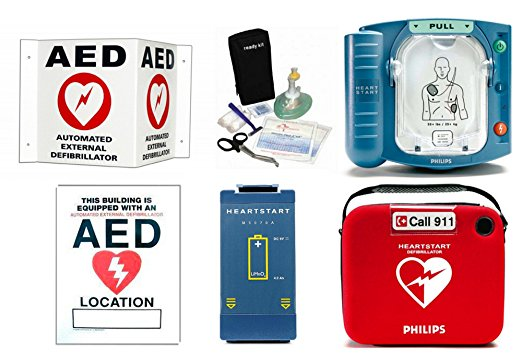 Philips HeartStart OnSite Defibrillator AED Package by Philips